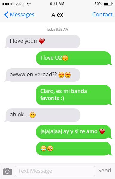 U2 broma mensajes novia