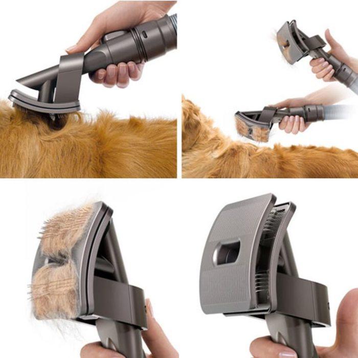 Cepillo para perros que permite quitar el pelo de manera fácil