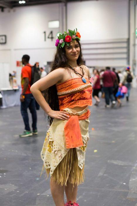 moana cosplay convención