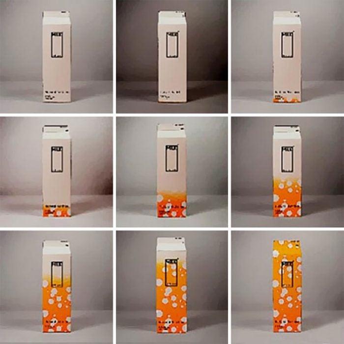 Empaque de leche que cambia de diseño según se acerca la caducidad