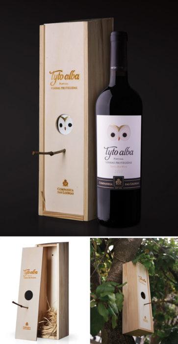 Caja de vino que puede ser usado de aviario