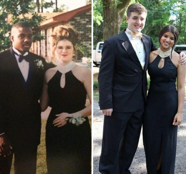 El mismo vestido que su mamá usó en su graduación Negro