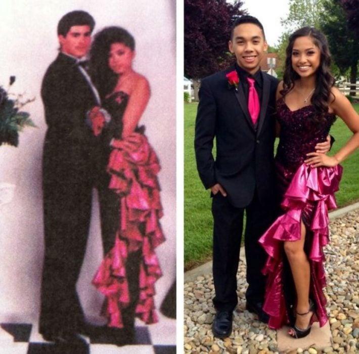 rumbera El mismo vestido que su mamá usó en su graduación