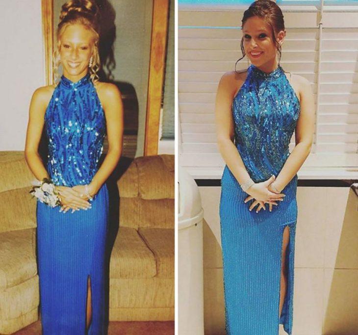 vestido azul El mismo que mamá usó en su graduación