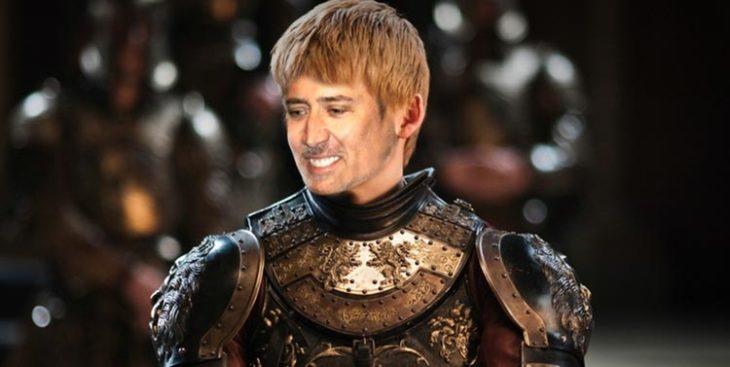 Joffrey Baratheon con la cara de Nicolas Cage