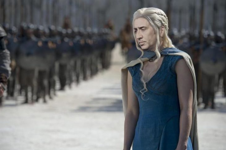 Daenerys Targaryen con la cara de Nicolas Cage