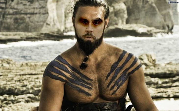 Nicolas Cage con el cuerpo de Khal Drogo