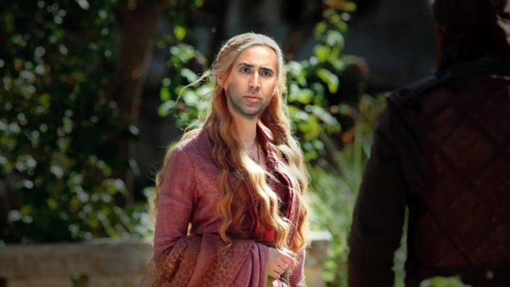chica de Game of Thrones con PS de Nicolas Cage