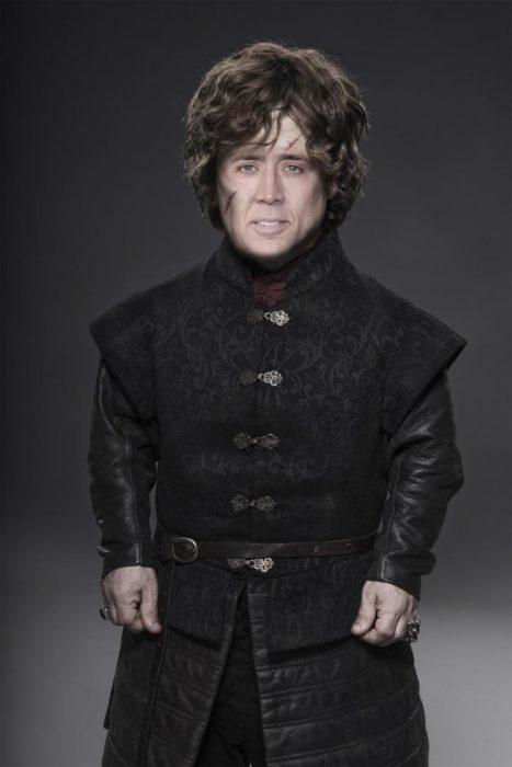 Tyrion Lannister con la cara de Nicolas Cage