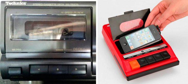 altavoz de cassette