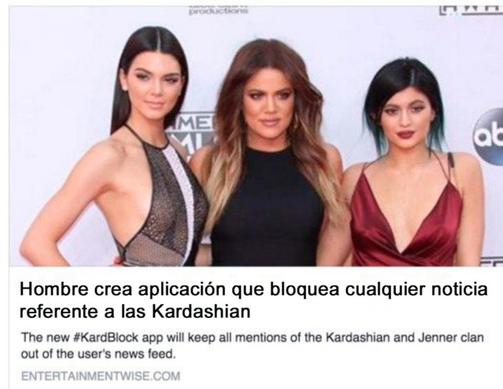 app para bloquear noticias de las kardashian