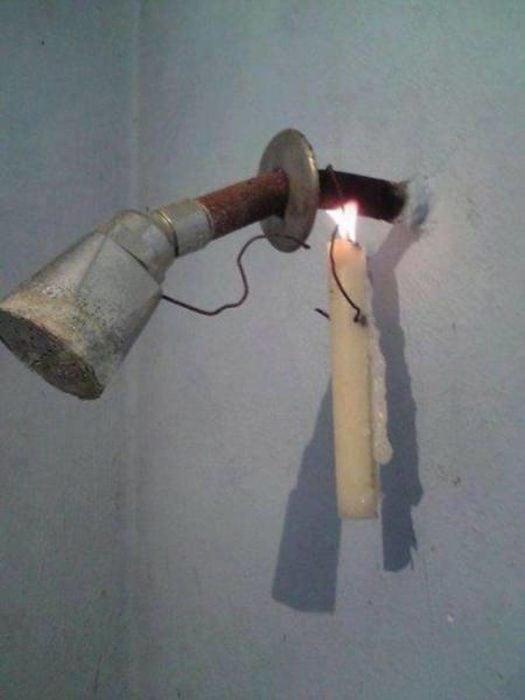 vela regadera ducha ecologista baño