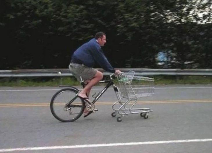 bicicleta carro de mercado inventos latinos