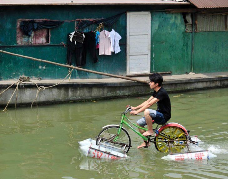 bicicleta sobre el agua inventos chinos