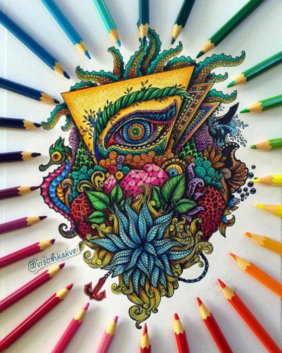 múltiples colores