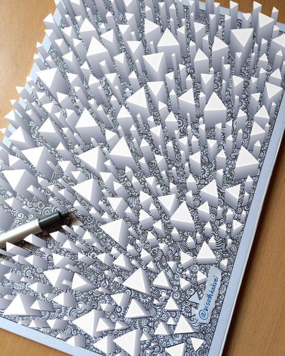 triángulos 3D