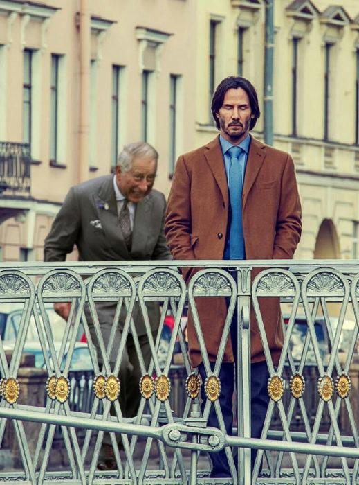 Batalla PS Keanu Reeves y el príncipe Carlos atrás