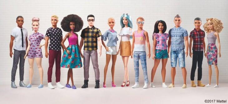 Linea de Mattel Barbie Fashionistas 2017