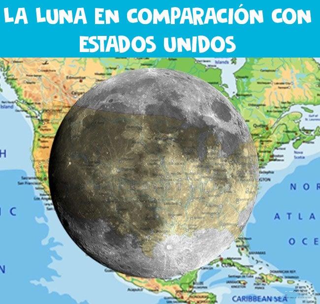El tamaño de la Luna