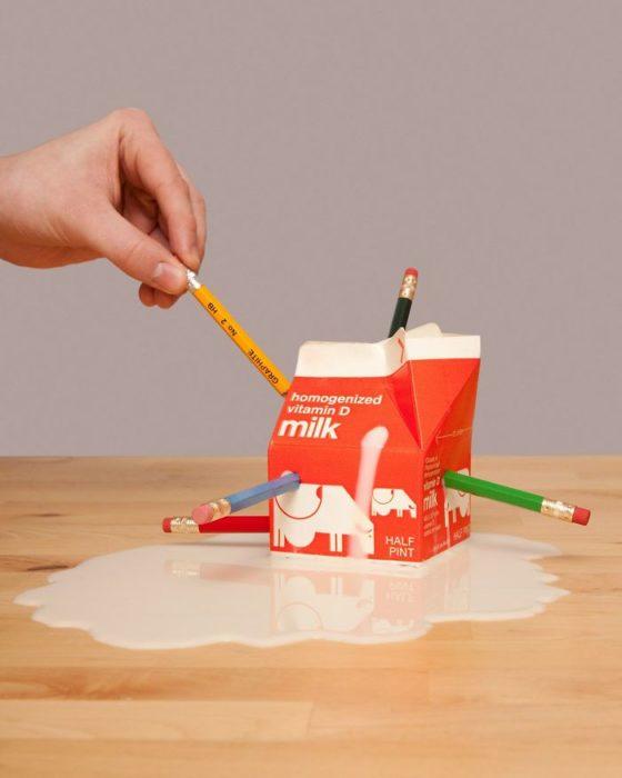 ilegal desfigurar un cartón de leche