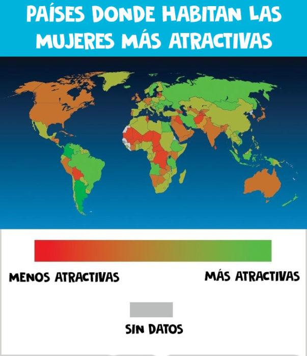 Mujeres atractivas en el mundo
