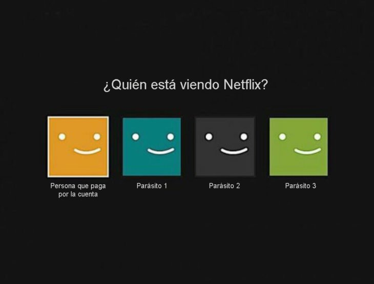 Netflix viendo parásitos