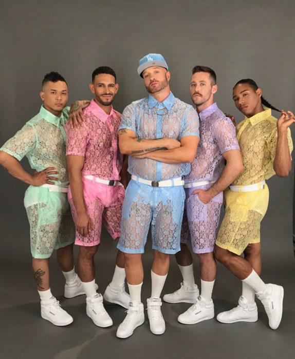 traje tennis hombre encaje colores pastel