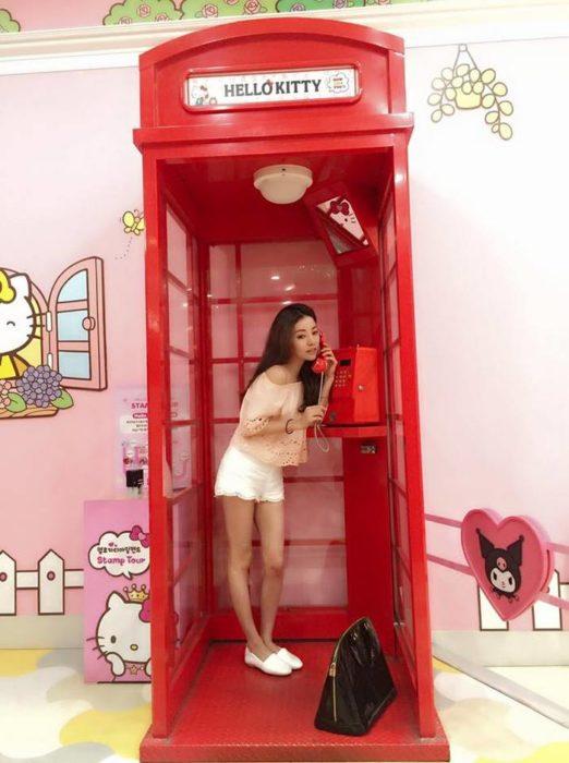 hello kitty chica tierna caseta telefónica