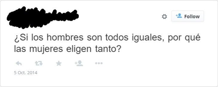 tweet sarcástico sobre las indecisiones de una mujer