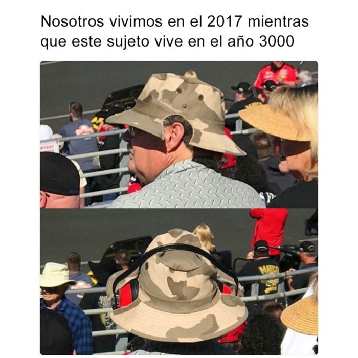 Vida en 3017 - hombre sombrero audífonos