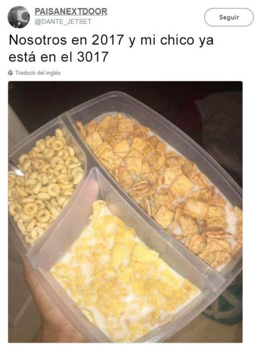 Vida en 3017 - tres cereales en uno