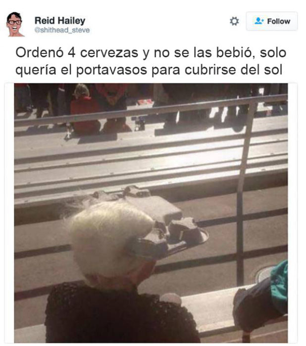 abuela gorra para el sol