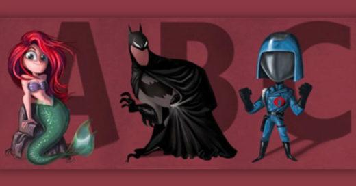 Cover Ilustrador crea un alfabeto ilustrado con superhéroes