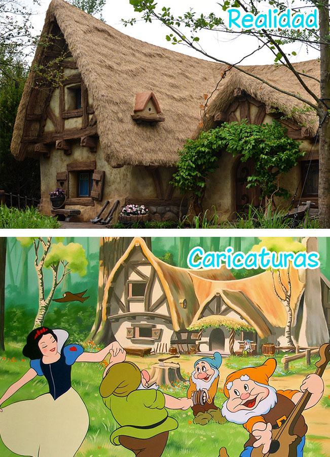 10 famosas casas de dibujos animados que existen en la for Casa enanitos