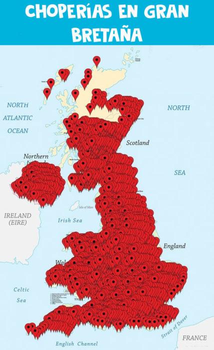 choperías pubs cervecerías mapa