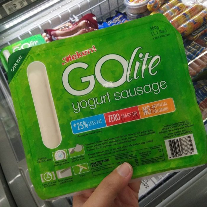 salchichas de yogurth