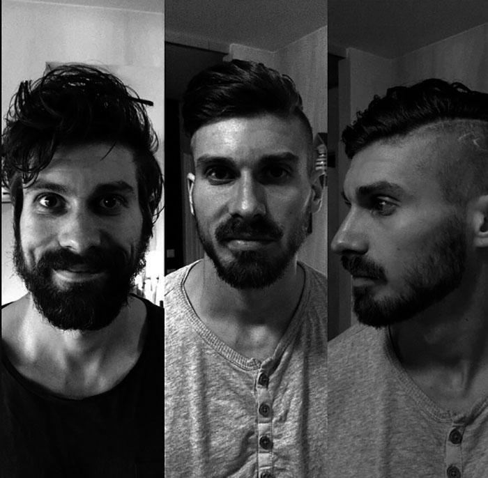 Antes Y Después De Un Corte De Pelo Estos Hombres Parecen