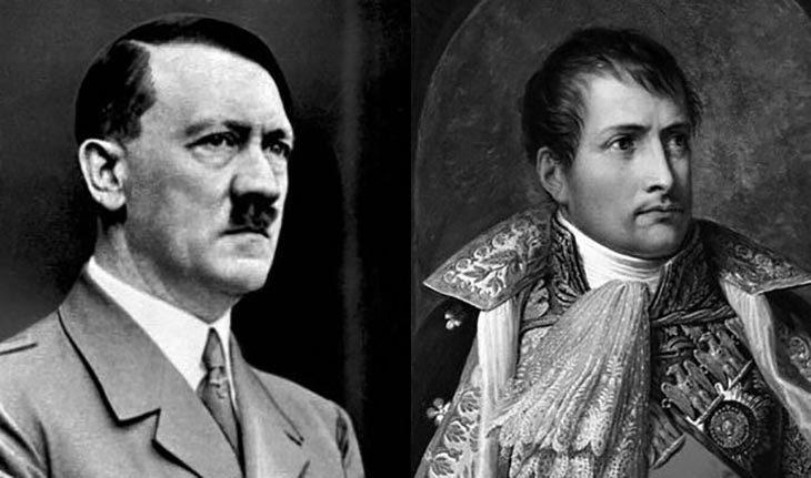 Aldof Hitler y Napoleon con 129 años de diferencia