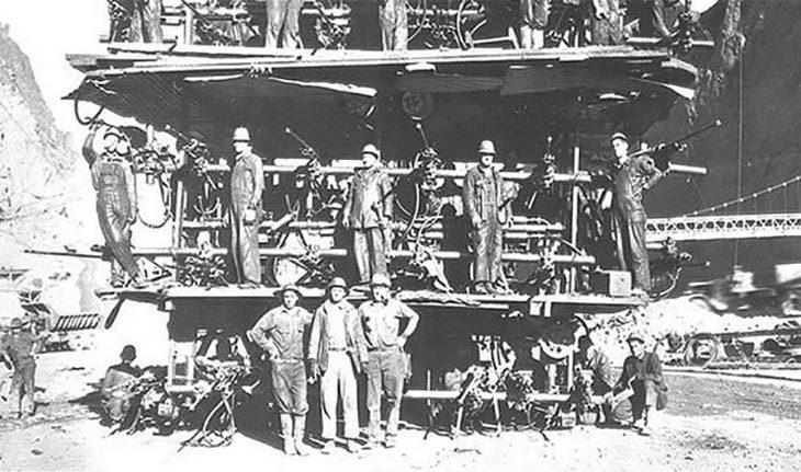 trabajadores de la presa hoover