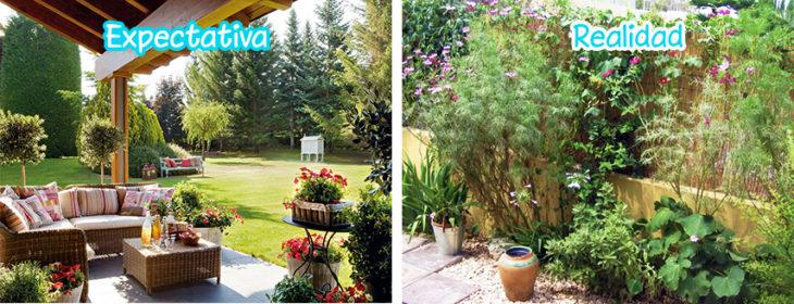 ¿Quien no quiere un jardín así?