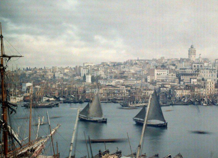 fotografía que captura a constantinopla al finalizar el imperio otimano