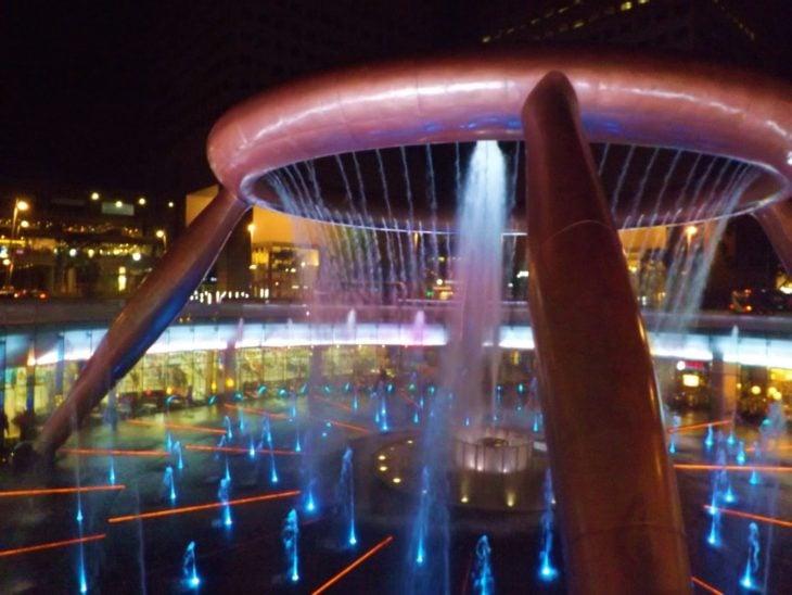 Fuente de la abundancia ubicada en Singapur