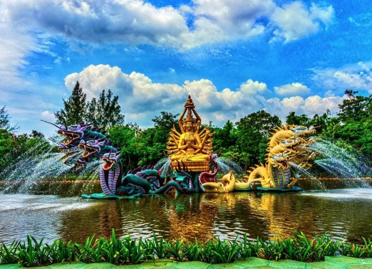 fuente bodhisattva avalokiteshvara en tailandia