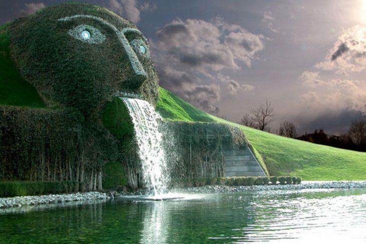 fuente Swarovski ubicada en Asutria