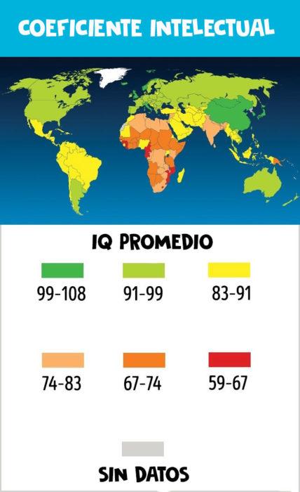iq del mundo mapa
