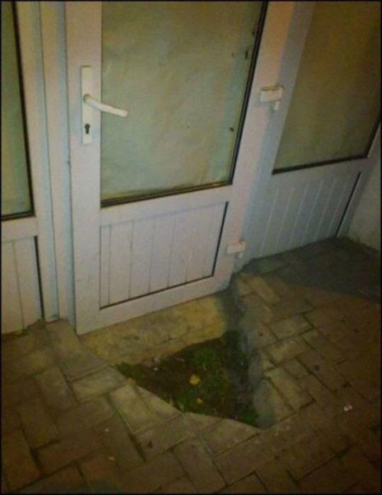 al menos pudieron utilizar la puerta