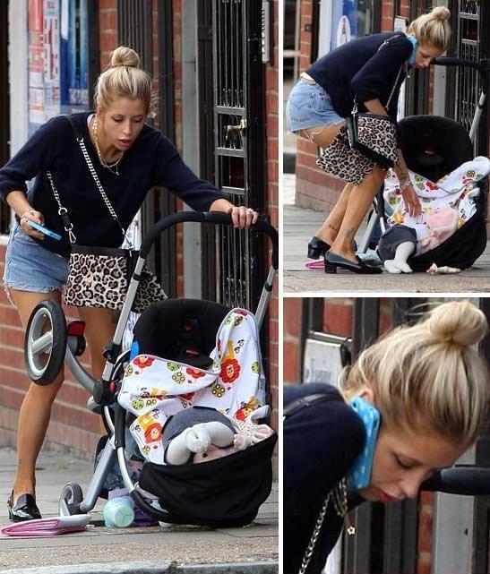 malos padres se le cae su bebé