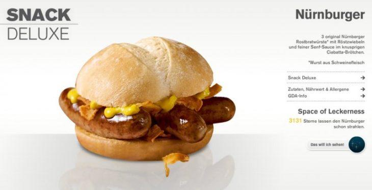 Das Nürnburger hamburguesa de McDonalds