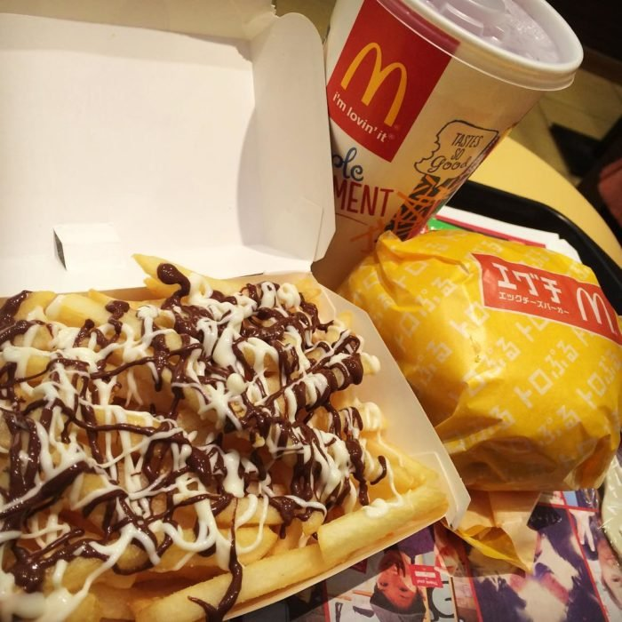 Papas de McDonalds con chocolate