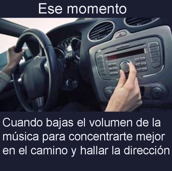 música dirección auto